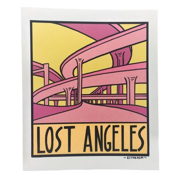 Lost Angeles Freeway Interchange Vinyl Sticker