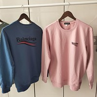 BALENCIAGA Men Women Fashion Pullover Sweatshirt