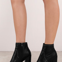 Sol Sana Voyage Leather Ankle Heeled Boots