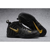 Nike Air Mens Foamposite Pro Hardaway Black/Gold Sneaker
