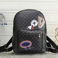 GEAPS LV Louis Vuitton Women Fashion Daypack School Bag Leather Backpack