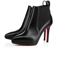Cl Christian Louboutin Crochinetta Black Leather 18s Ankle Boots 1180268bk01