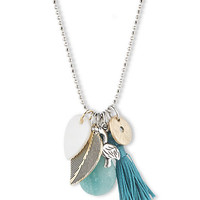 Lonna & Lilly Silver Tone Mixed Pendant Necklace