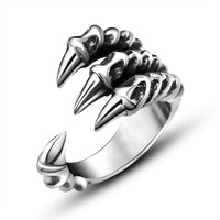 Gift Jewelry Stylish New Arrival Shiny Titanium Men Strong Character Accessory Ring