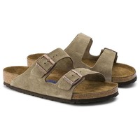 Birkenstock Arizona Soft Footbed Suede Leather Taupe Sandals
