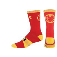 Under Armour Boys' Under Armour Alter Ego Iron Man Big Logo Crew Socks