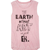 Earth Without Art Burnwash Muscle Tank - Rose