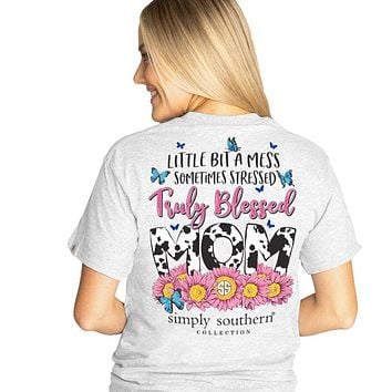 Simply Southern Preppy Truly Blessed Mom T-Shirt