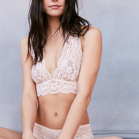 Out From Under Sheer Lace Halter Bra - Urban Outfitters