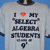 80s I Love My Algebra Students Class of 81 t-shirt Extra Large