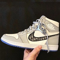 Wearwinds Dior x Air Jordan 1 High OG Fashion Women Men Casual Sneakers Sport Shoes