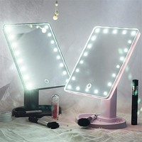 Touch Screen LED Light Vanity Mirror (360 Degree Rotation)