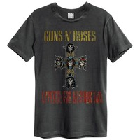 Guns N Roses Men's  Appetite For Destruction Slim Fit T-shirt Black