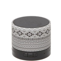 Audiology Printed Portable Bluetooth Speaker - Womens Scarves - Black - One