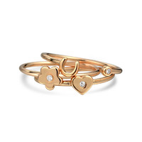 Bling Jewelry Stackable Rosy Rings