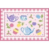 Tea Party Fun Kids Rug
