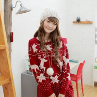 2017 Spring Fashion Women sweater high elastic Christmas Deer sweater women slim sexy Bottoming Knitted Pullovers