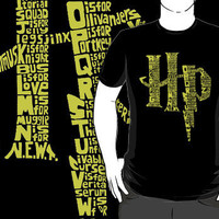 """""""Harry Potter A-Z Alphabet"""" T-Shirts & Hoodies by rorylando45   RedBubble"""