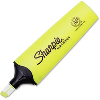 Sharpie Clear View Highlighter - Chisel Marker Point Style - Fluorescent Yellow Ink - 1 Each