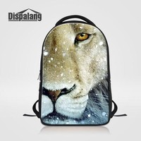 Cool Backpack school Dispalang Computer Notebook Laptop Backpack Cool Leopard Lion Print Women Travel Backpack College Student Bookbag Casual Bagpack AT_52_3