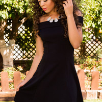 Merida Off The Shoulder Dress - Black