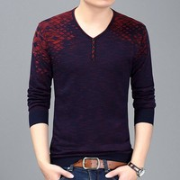 HOT SELL 2017 New Fashion Brand Men Clothes Long Sleeve Slim Fit T Shirt Men Casual T Shirts