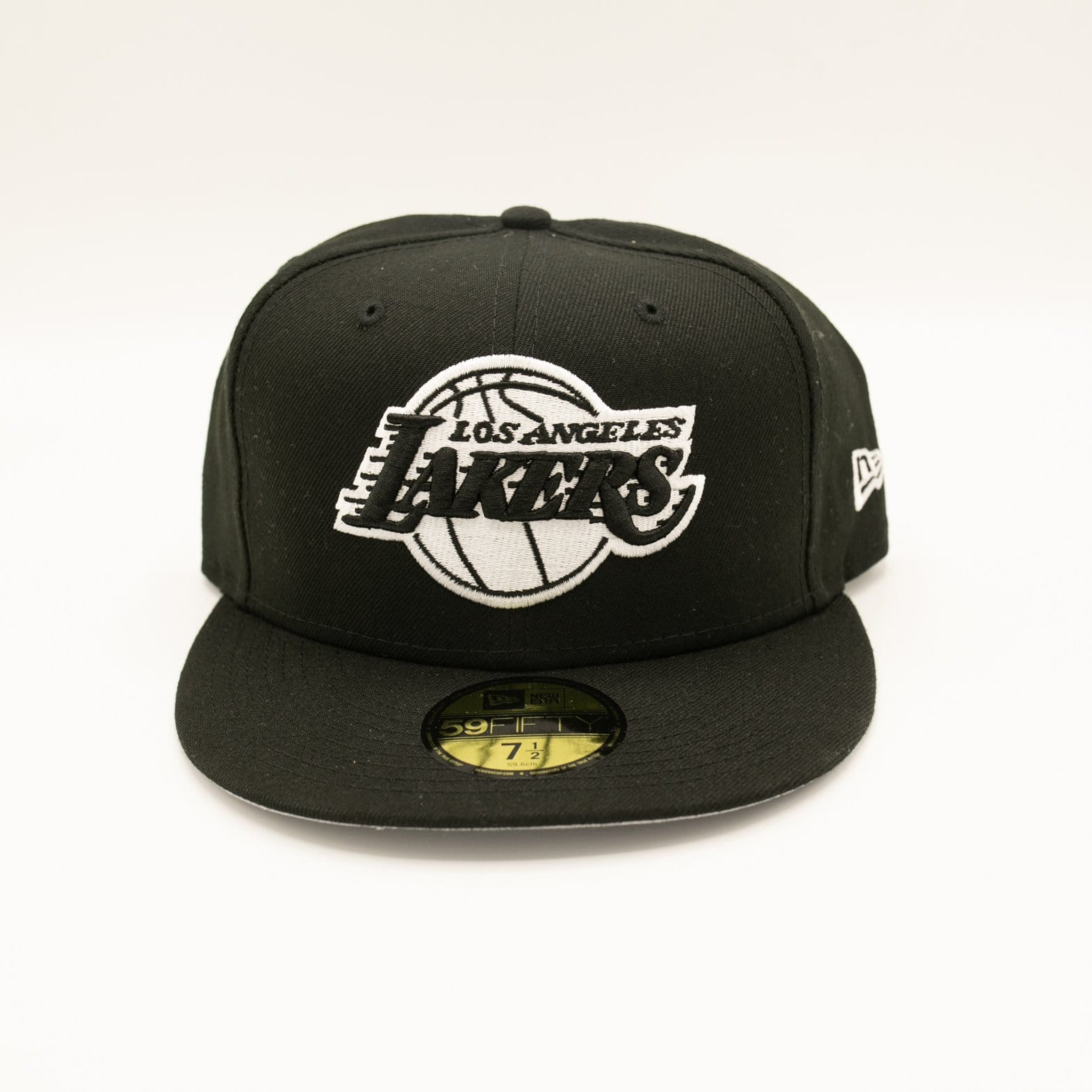 Image of Los Angeles Lakers Black & White 59Fifty Fitted