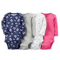 Carter's 4-pk. Floral Bodysuits - Baby Girl, Size: