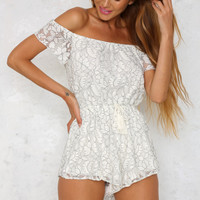 Louisa Playsuit White
