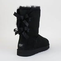UGG Women's Bailey Bow Black 1002954 w/ Free Domestic Shipping!
