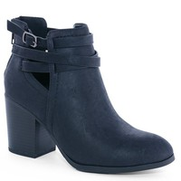 Black Mandy Strappy Booties