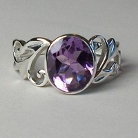 Amethyst Sky and Air Ring