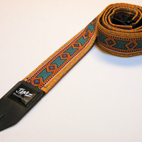 Two-sided Tribal Handmade Guitar Strap - INCA - Southwestern - Native American - Top Seller