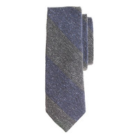 ENGLISH SILK TWEED TIE IN CLASSIC STRIPE