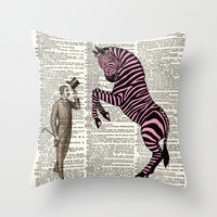 Hello Miss Zebra by Adidit Throw Pillow by Adidit | Society6