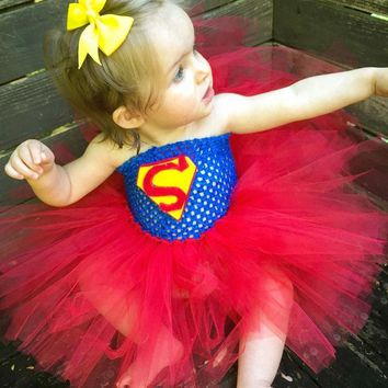 Batman Dark Knight gift Christmas Superhero Inspired Baby Tutu Dress Halloween Birthday Costume Outfit Superman Batman Dress Girls Photo Props TS045 AT_71_6