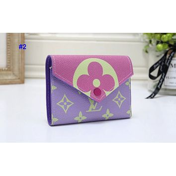 LV Louis Vuitton New fashion monogram print wallet purse women 2#