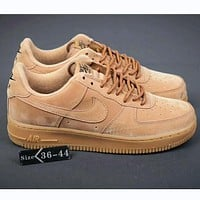 NIKE Air Force 1 Fashion Breathable Running Sneakers Sport Shoes Brown I-HAOXIE-ADXJ