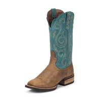 Justin Women's SVL7204 Rugged Tan Buffalo Boots