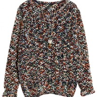 Chic Long-Sleeves Heather Knit Sweater - OASAP.com