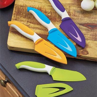 Cutlery Set Nonstick Colorful Chef Knives Knife Stainless Steel Sheaths Chop NEW