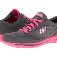 SKECHERS Performance Gowalk - Baby Charcoal/Hot Pink - Zappos.com Free Shipping BOTH Ways