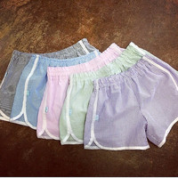 Seersucker Shorts - Bridesmaid Gift - Bridal Shower - Southern - Wedding - Preppy