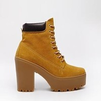 River Island | River Island Tan Irene Lace Up Ankle Boots at ASOS