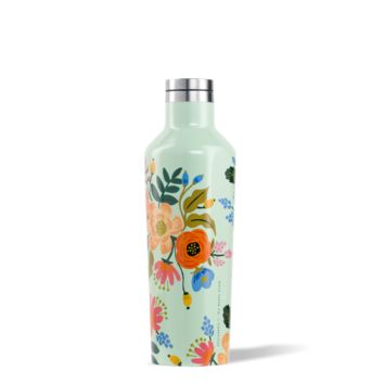 Rifle Paper Canteen - 16oz Mint Lively Floral