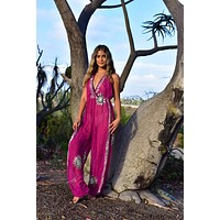 The Bodhi Jumpsuit in Sterling Sun