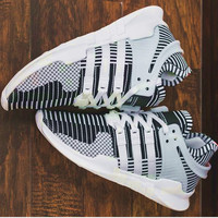 Adidas EQT Support Boost Fashion Men Running Sport Casual Shoes Sneakers Grey White G-AA-SDDSL-KHZHXMKH