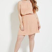 Plus Size Pleated Dress   Forever 21 PLUS - 2000183066