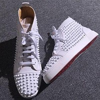 Christian Louboutin CL Louis Spikes Style #1889 Sneakers Fashion Shoes Online