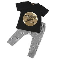 born Infant Baby Boys Kid Clothes T-shirt Tops + Pants Outfits Sets Children's Clothing Set